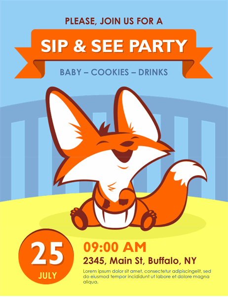 Sip and see flyer