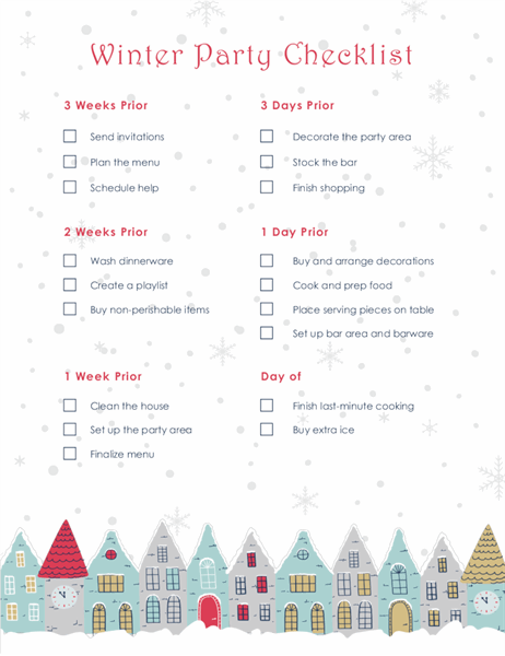 Winter holiday party checklist