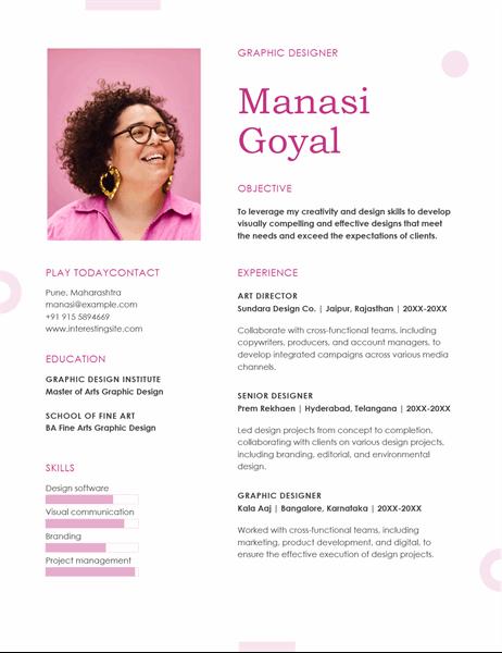 Photo resume