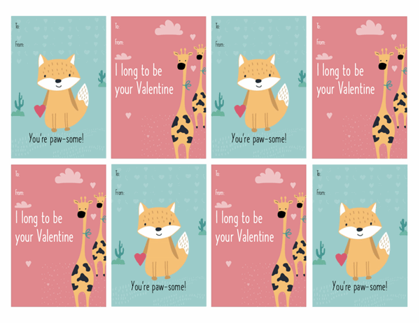 Children's Valentine's Day cards