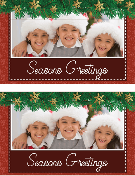 Holiday greenery photo card