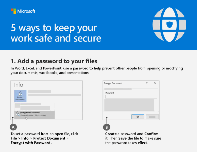 5 ways to keep your work safe and secure