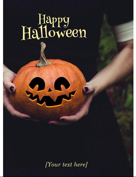 Jack-o'-lantern Halloween invitation