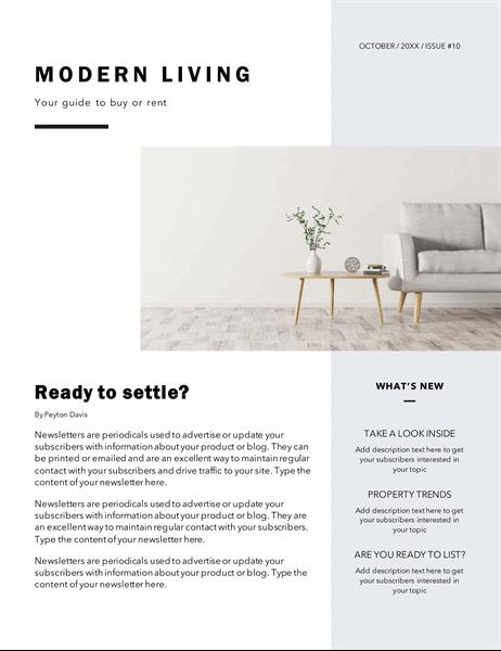 Realtor newsletter