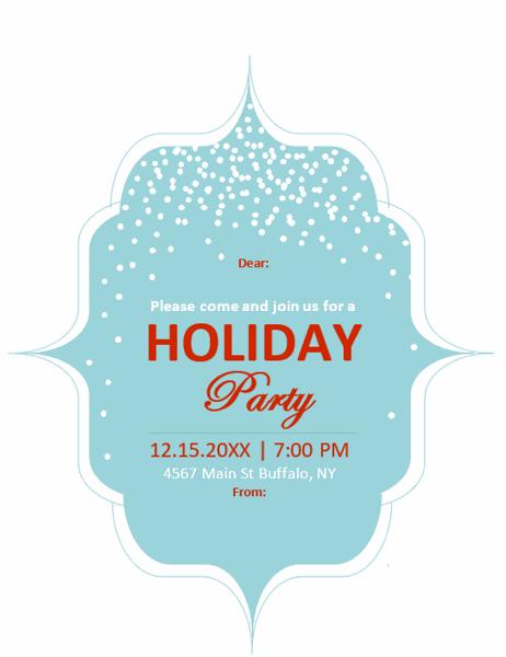 Elegant holiday invitation