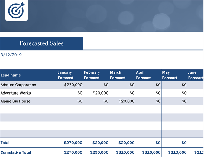 Small business sales lead tracker