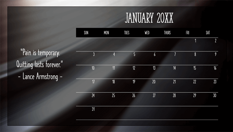 Monthly quotes calendar
