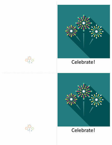 Fireworks celebration card