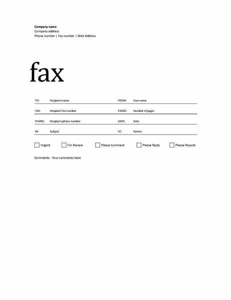 Fax cover sheet (Professional design)