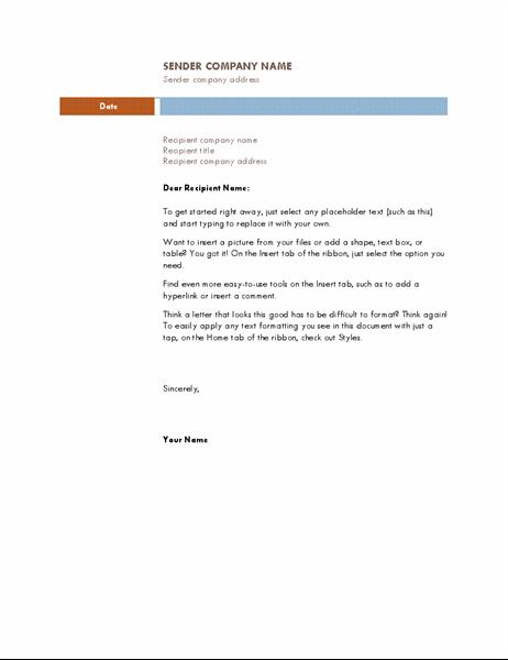 Business letter (Median theme)