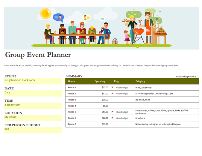 Group Event Planner