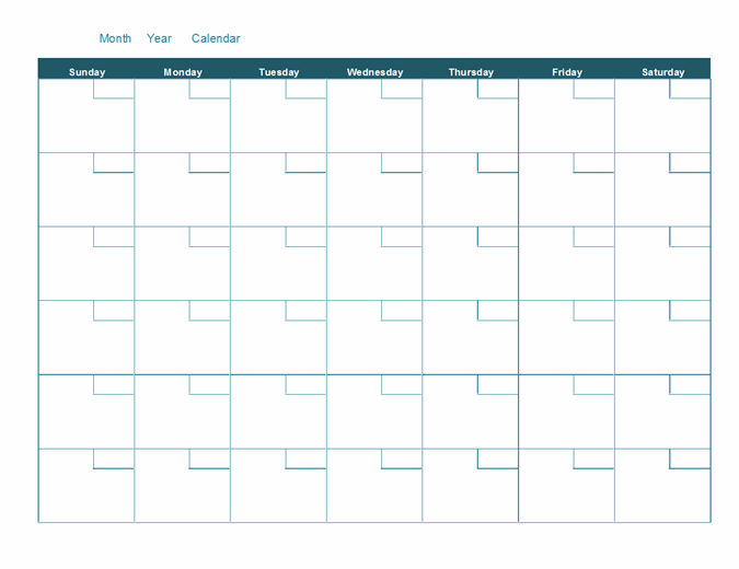 One Month Calendar Template from binaries.templates.cdn.office.net