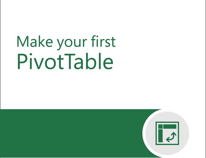 PivotTable tutorial