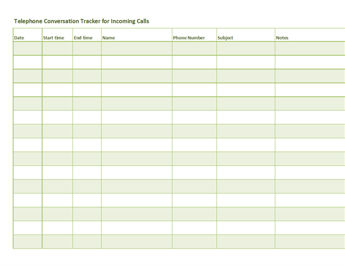 Telephone Conversation Tracker For Incoming And Outgoing Calls