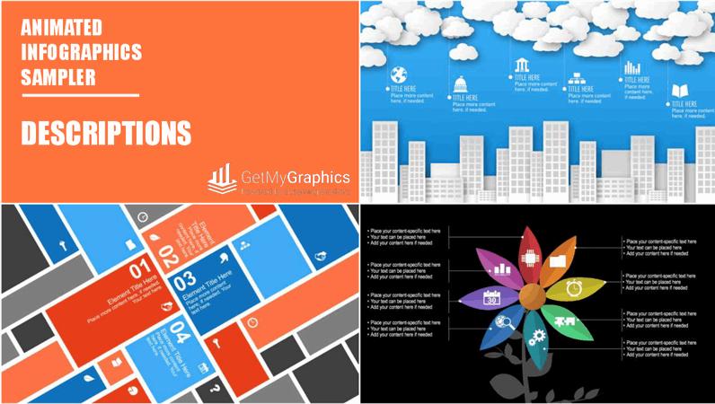 Animated descriptions infographics sampler