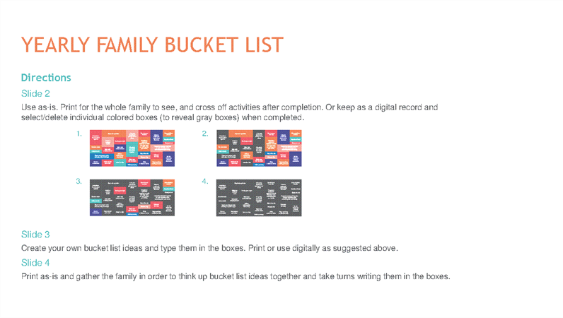 Family Bucket List