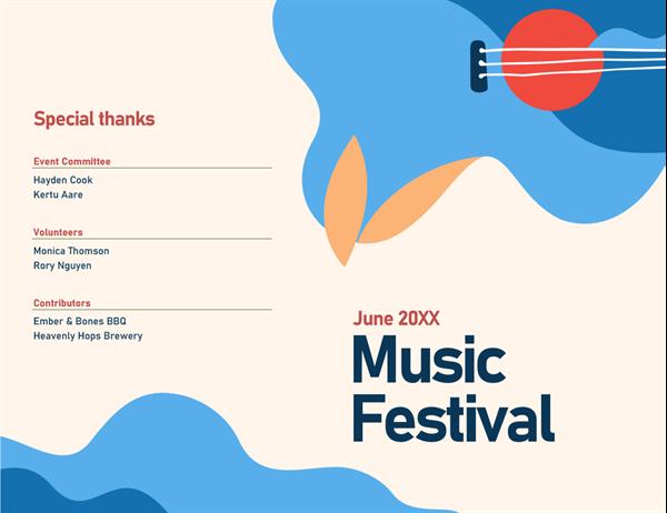 Event program (half-fold)