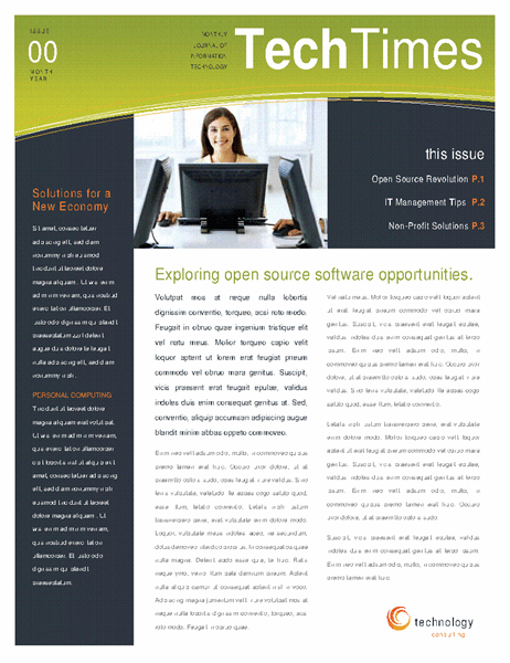 Technology Business Newsletter 4 Pages