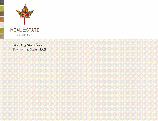Real estate business envelope