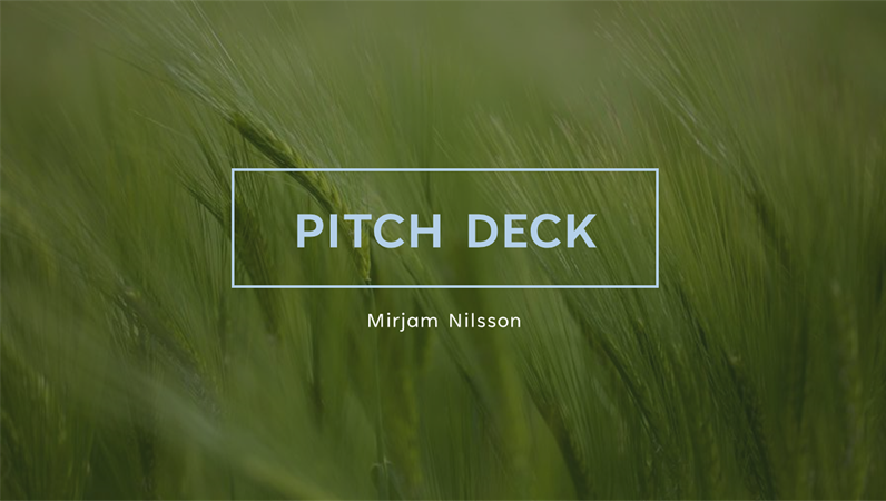 Green pitch deck
