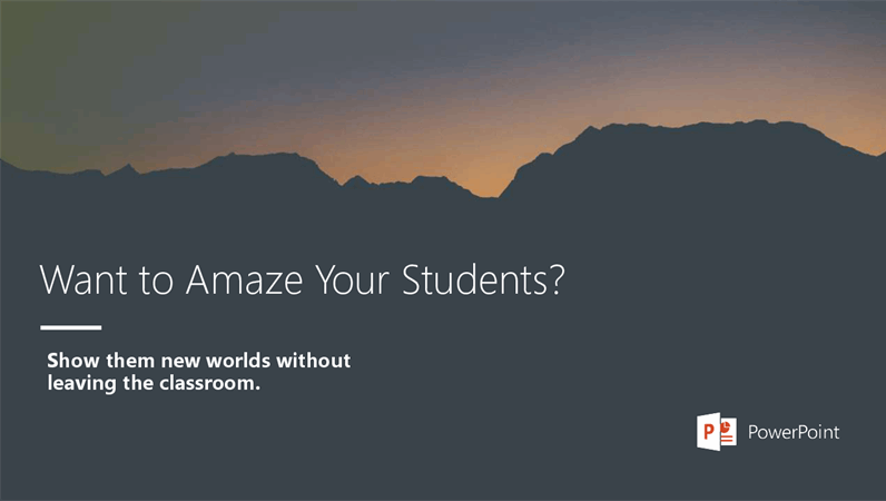 Want to amaze your students?
