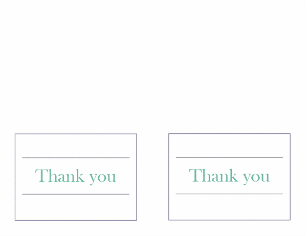 Wedding thank you notes (two per page)