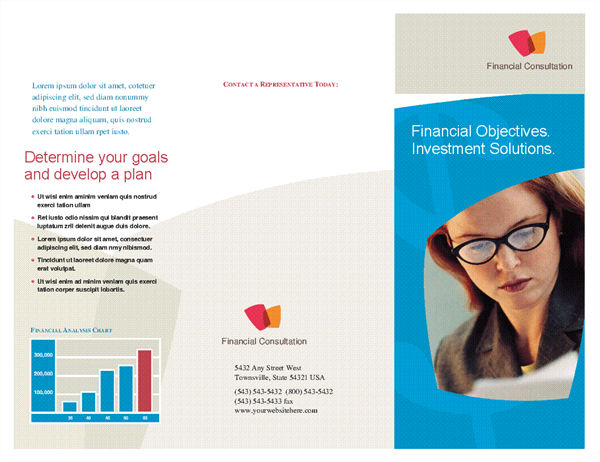 Financial business brochure (tri-fold)