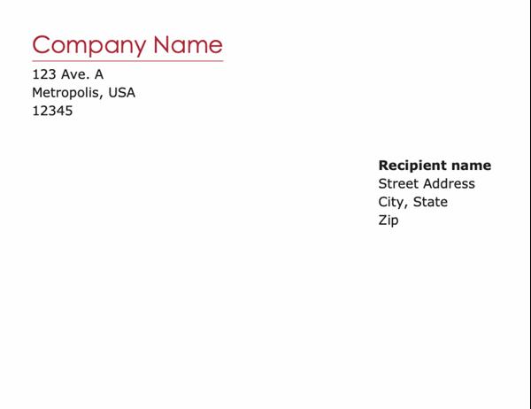 Financial business envelope