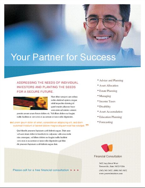 Financial business flyer