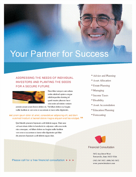 Financial business flyer