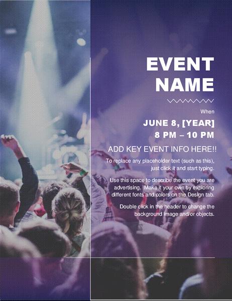 Cultural event flyer