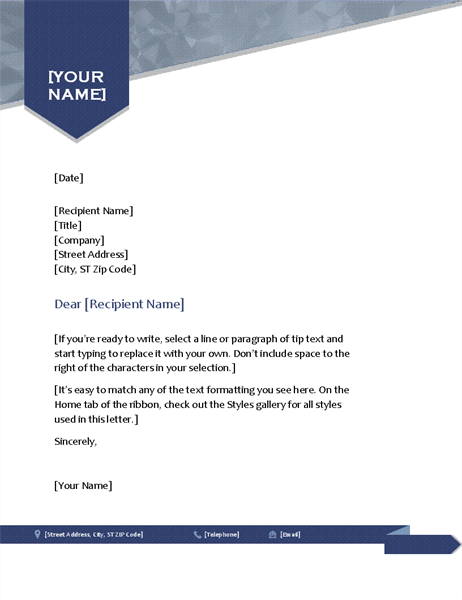 Arrow letterhead
