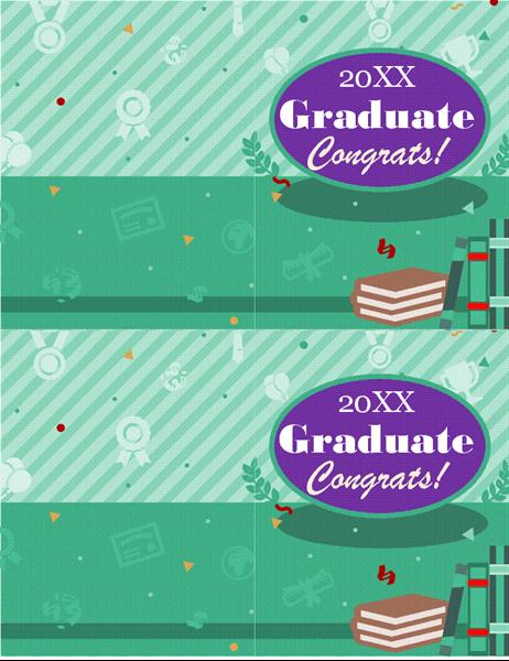 Graduation card (2 per page)