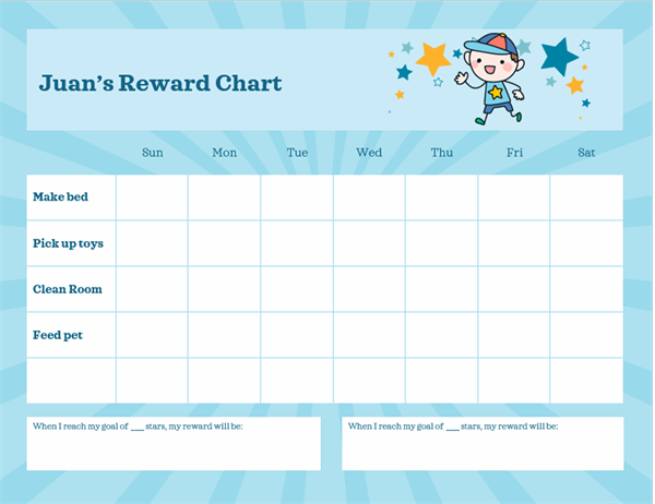 Tasks reward chart