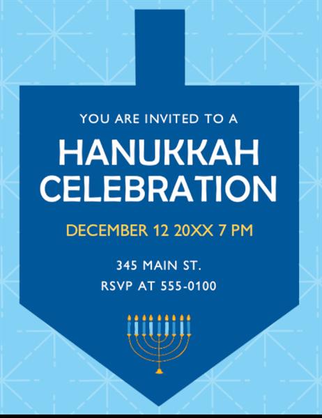 Hanukkah invitation