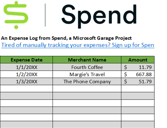 Spend expense tracker