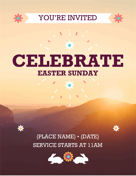 Sunrise Easter flyer