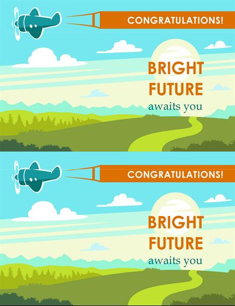 Bright future graduation card