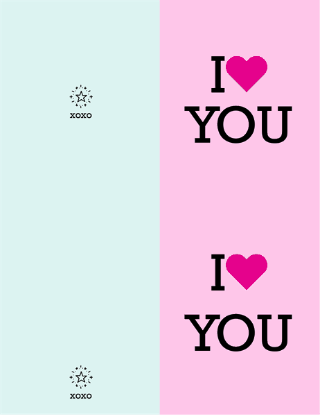 I heart you Valentine