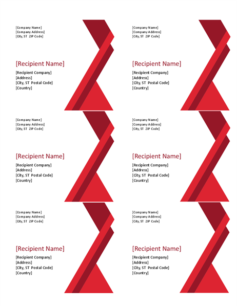 Bold angles labels (6 per page)