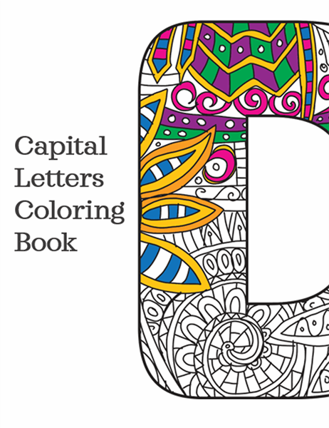 Capital letters coloring book