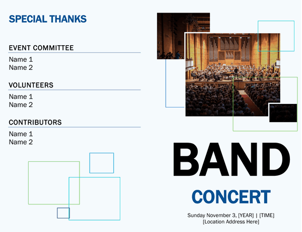 Band concert program