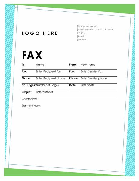 Geometric fax cover