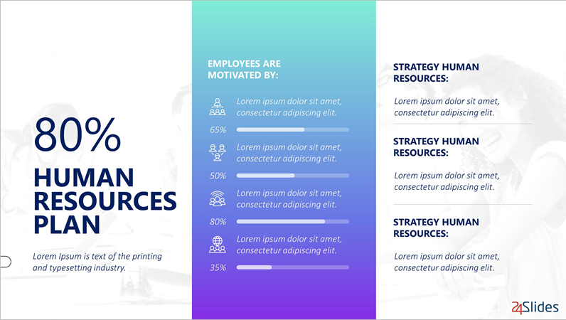 Human resources, from 24Slides