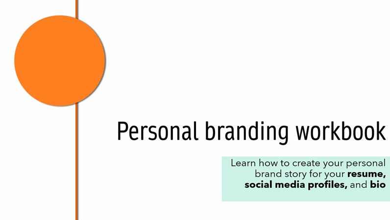 Personal branding template