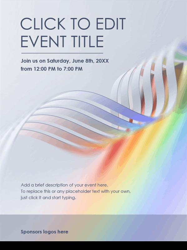 Pride wave flyer