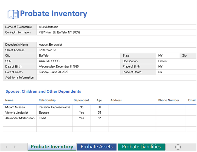 Probate inventory