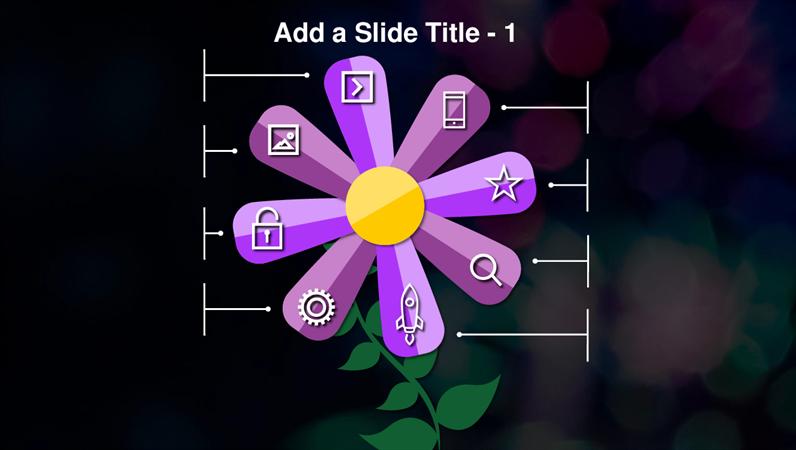 Animated flower slide