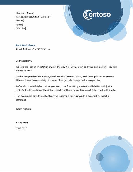 Blue spheres letterhead