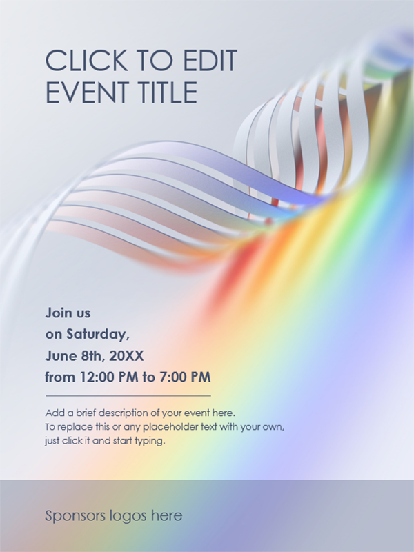 Pride wave poster